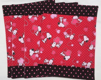 Placemats - Snoopy Valentines (Set of 4), Reversible