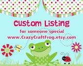 Custom Order - One Mommy Corsage in Barnyard Farm Animals Theme