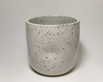 Handmade Stoneware Cup - Rustic Ceramic Cup - White Speckle Cup - White Cup - Beer Cup - Coffee Cup - Tea Cup - Country Chic - Pottery Cup