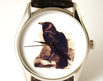 ON SALE 30% OFF Watch Raven, mens watch, bird watch,