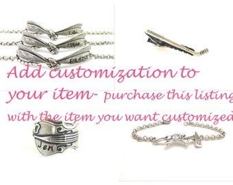 Add Handstamped Customization- Handstamp Your Item