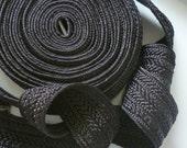 CUSTOM ORDER  for Hadia, black wide art Silk Braid,  5 metres