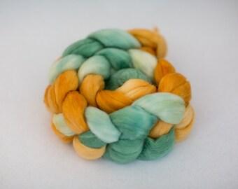 Alpaca/Merino/Silk Wool Roving - Handdyed - 4 oz