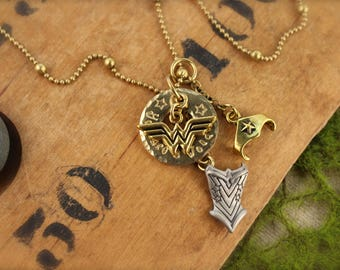 Wonder Woman You are a Wonder Charm Necklace