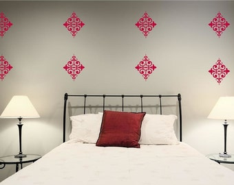 10 Damask Vinyl Wall Decals