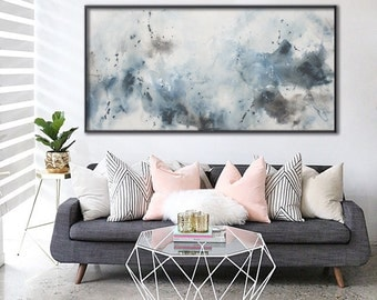 large vertical painting seascape painting minimalist 'day dreams II' Elena