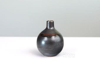 Otagiri Japan OMC Small Bulbous Ceramic Pottery Vase