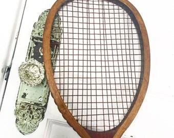 Vintage Tennis Racquet, Vintage Wood Tennis Racquet, Antique Tennis, Antique Racquet, Raquet