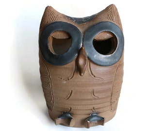 California Studio Pottery Owl Figurine by Richard and Gloria Minnickel
