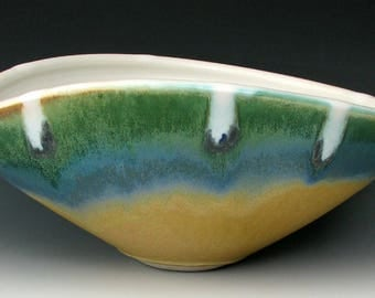 CERAMIC BOWL #4 - Stoneware Bowl - Serving Bowl - Pottery Bowl - Large Bowl - Centerpiece - Fruit Bowl - Home Decor - Studio Pottery