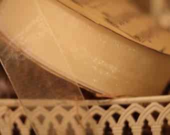 Ivory Organza Ribbon