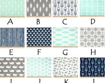 Modern Mint Custom Crib Bedding--YOU DESIGN, I CREATE