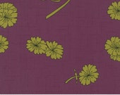 Falling Flowers Print in Plum and Clover from the Haiku Collection by Moda