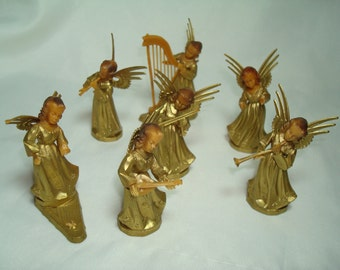 Vintage German Miniature Christmas Angels.