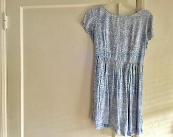 Baby blue floral dress S -M