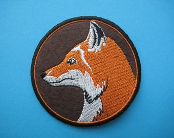 SALE~ Iron-on embroidered Patch WOLF 2.5 inch