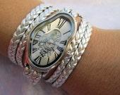 Elegant Ladies Watch,Wavy Time Warp watch,Dali Fluid melted watch,Wrist Watch,Leather Watch for woman,Women's Watches