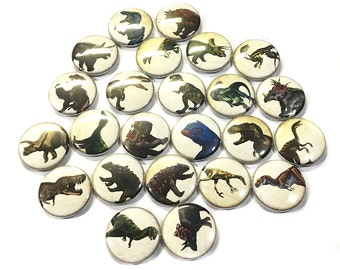 "Dinosaurs, 1"", 1.5"", Button, Dinosaur Decor, Dinosaur Theme, Dinosaur Pin, Dinosaur Party Favor, Dinosaur Badge, Prehistoric, Dino, Jurrasic"