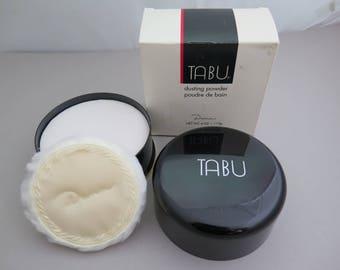 Vintage TABU by DANA Dusting Powder 4 OZ  1980s New Old Stock