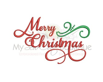 Merry Christmas Embroidery Designs - Holiday Machine Sayings  - 12 Sizes - Instant Download