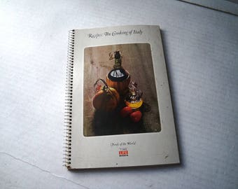 Time Life Cooking of Italy Foods of the World Spiral Recipe Book