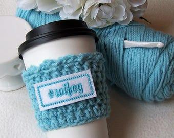 Crochet Coffee Cup Cozy - #wifey - Wifey - wifey