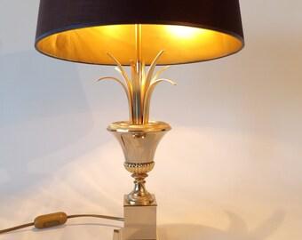 Hollywood Regency Gilt Table Lamp Maison Charles Style 1960s