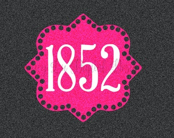 PHI MU BADGE 1852, Digital Cut Files