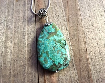 African Turquoise Pendant | African Turquoise Necklace