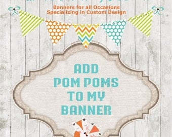 Add Pom Poms to My Bunting Banner