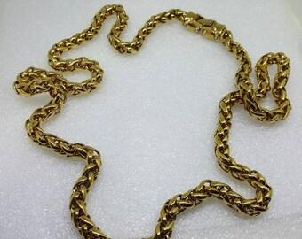 Heavy Chain Necklace 32 inches Rhinestone Clasp Retro Mod