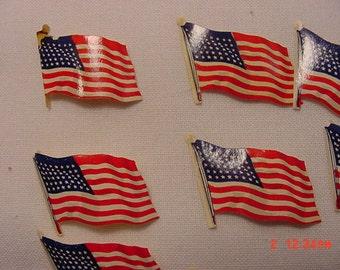 23 Vintage Dennison American Flag Seals  17 - 22