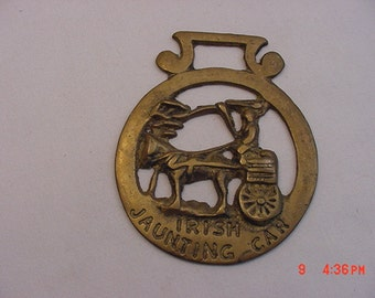 Vintage Brass Horse Harness Decoration Irish Jaunting Car  17 - 301