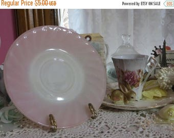 Store Closing SALE Vintage Fire King Pink Swirl Saucer-Mint
