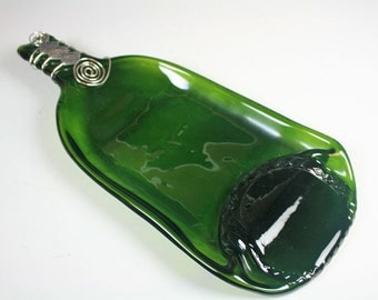 Flattened Wine Bottle, Slumped Wine Bottle, Melted Wine Bottle, Gift for the Wine Drinker, Hostess Gift, Host Gift,