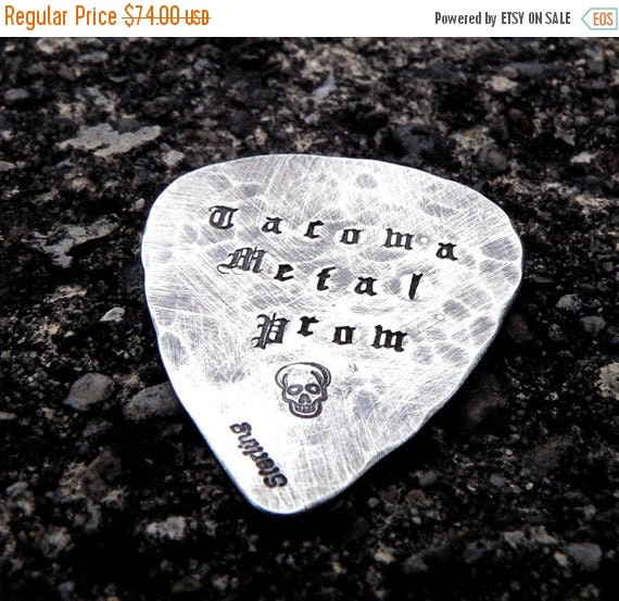 20% OFF - Hand-finished Solid Sterling Guitar Pick