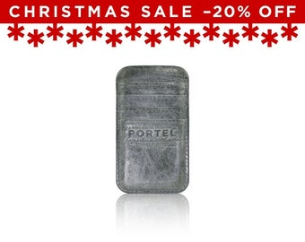 Christmas Sale -20% Off - - iPhone 6, iPhone 7 RETROMODERN aged leather pocket - - GRAY
