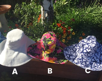 READY to SHIP Sunhats Select Color and Pattern Foldable, Travel, Honeymoon, Must Have Accessory Sunhat, Vacation Sunhat by Freckles
