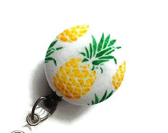 Pineapples Badge Reel Retractable Badge Holder Nurse Badge Reel ID Badge Reel Badge Clip Name Badge Holder Key Card Holder Teachers Gift