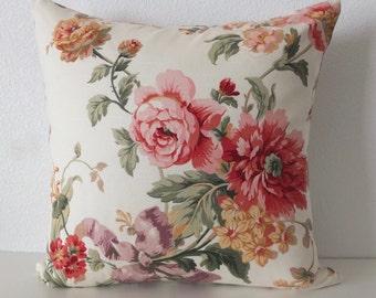 Romantic Floral Pillow Cover