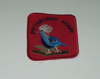 Pittsburgh Aviary Vintage Souvenir Travel Patch Sew On sm