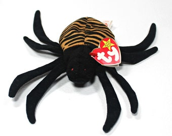 Vintage Ty Collectible Toys, Spinner, 1996, Original Ty Spider Beanie Baby