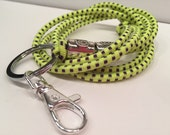Lanyard stretchy Bungee Bright Neon Functional Work ID Badge