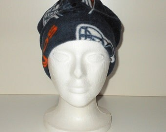 Denver Broncos Navy Blue Print Adult Fleece Beanie With Extra Warmth Band - Gift For Him - Gift For Her - Sports Team Hat - Gift For Dad