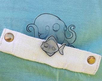 Pocket Pins! Octopus & Fish
