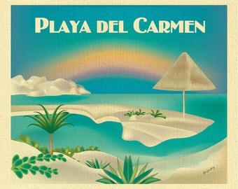 Playa del Carmen Art, Playa del Carmen wall art, Playa del Carmen canvas, Playa del Carmen poster, Playa del Carmen Mexican art - E8-O-PLAY