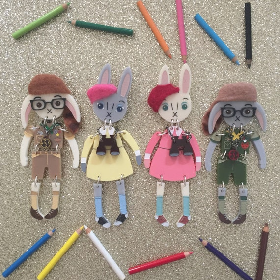 Moonrise Kingdom Bunny Buddy Brooch