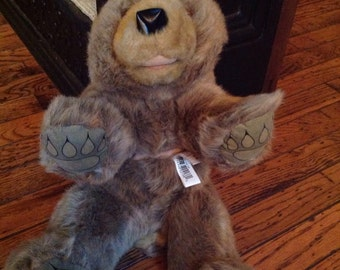 Vintage Folkmanis Grizzly Bear Cub Hand Puppet