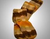 Thigh High Socks, Shibori Tie Dye, Earthtones