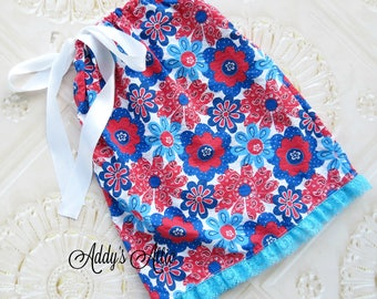 4th of July Dress, Toddler Dress, Baby Girls Dress, Pillowcase Dress, Toddler Girls Dress, Baby Girl 4th of July, 4th of July Outfit